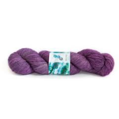 "Handgeverfde Sokkenwol BFL ""Purple Rain"""