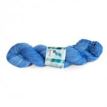 "Handgeverfde Sokkenwol BFL ""True Blue"""